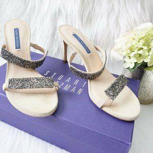 🆕Stuart Weitzman Embellished Open Toe Mule Sandal